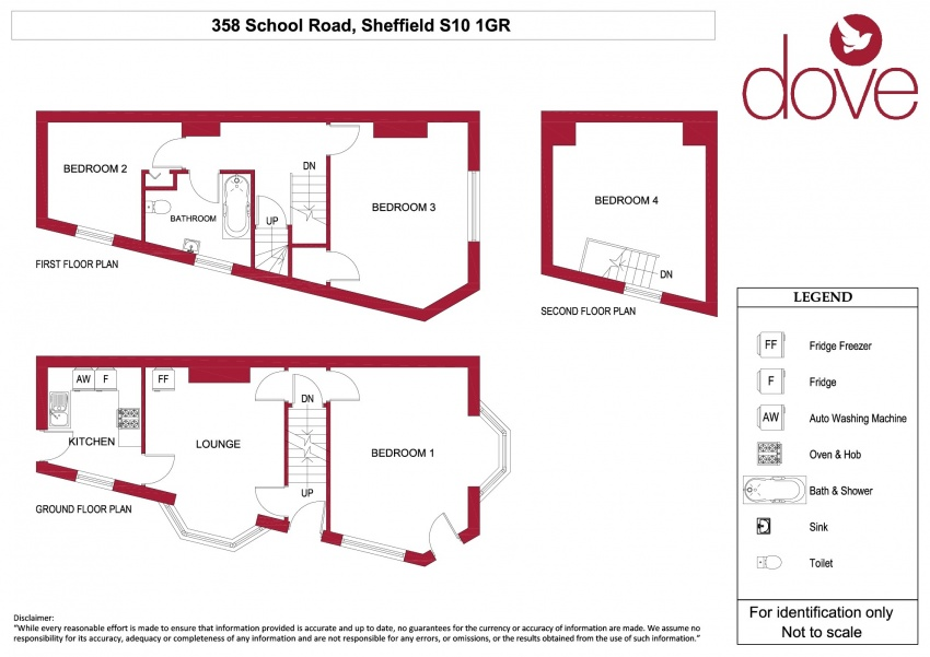 Floor plan for 358 School Road, Crookes