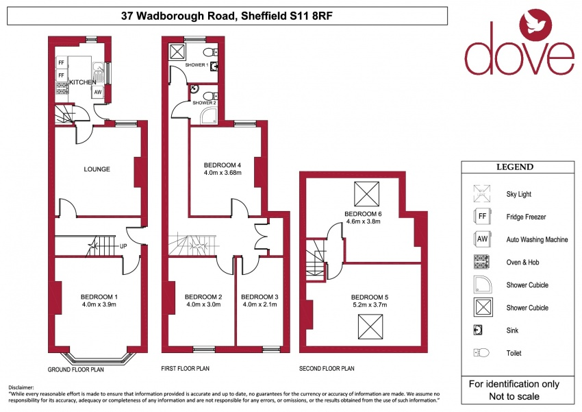 Floor plan for 37 Wadbrough Road, Ecclesall Road