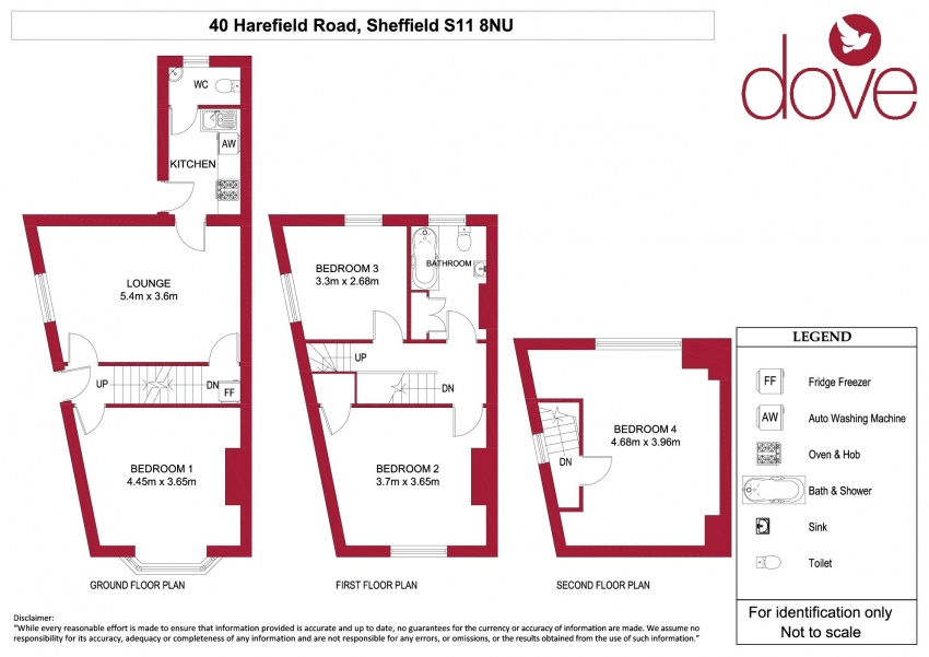 Floor plan for 40 Harefield Road, Ecclesall Road