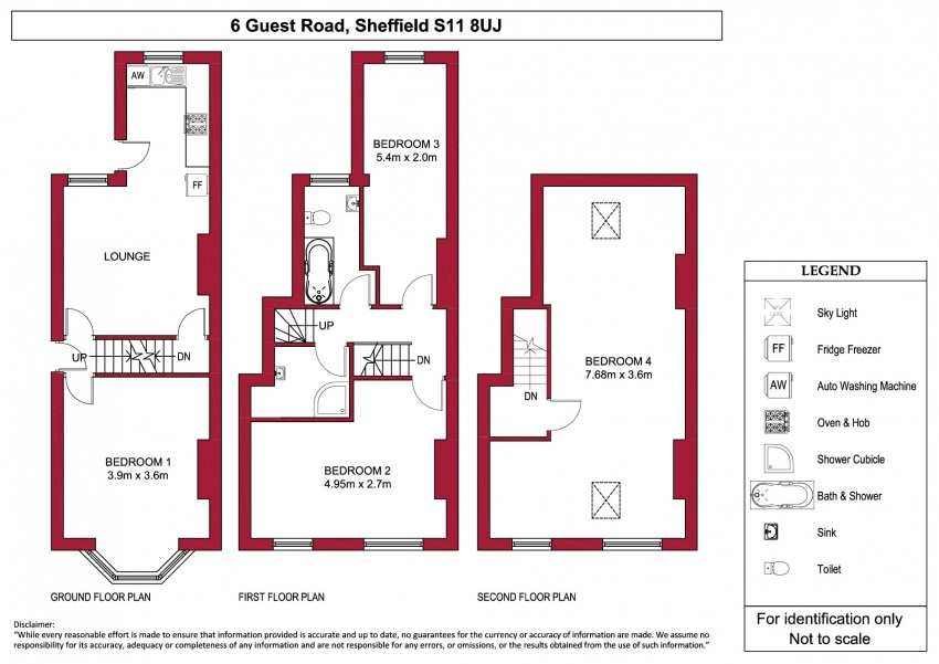 Floor plan for 6 Guest Road, Hunters Bar