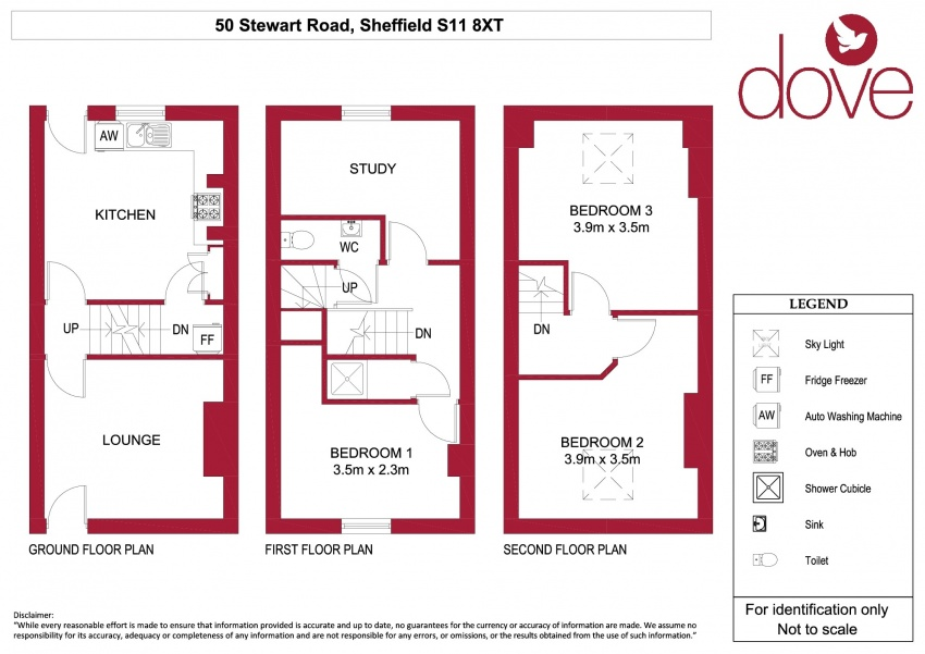 Floor plan for 50 Stewart Road, Ecclesall Road