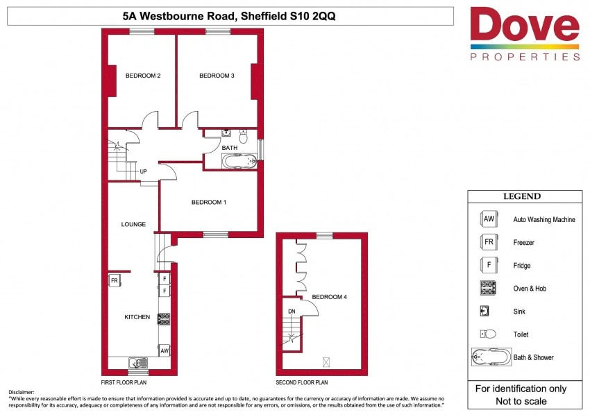 Floor plan for 5a Westbourne Road, Broomhill