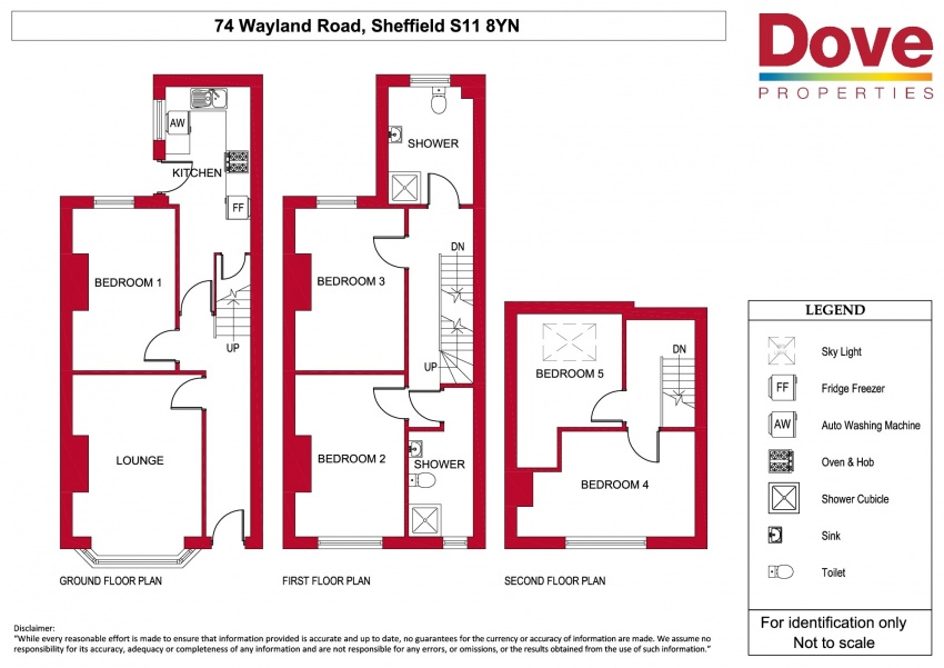 Floor plan for 74 Wayland Road, Ecclesall Road