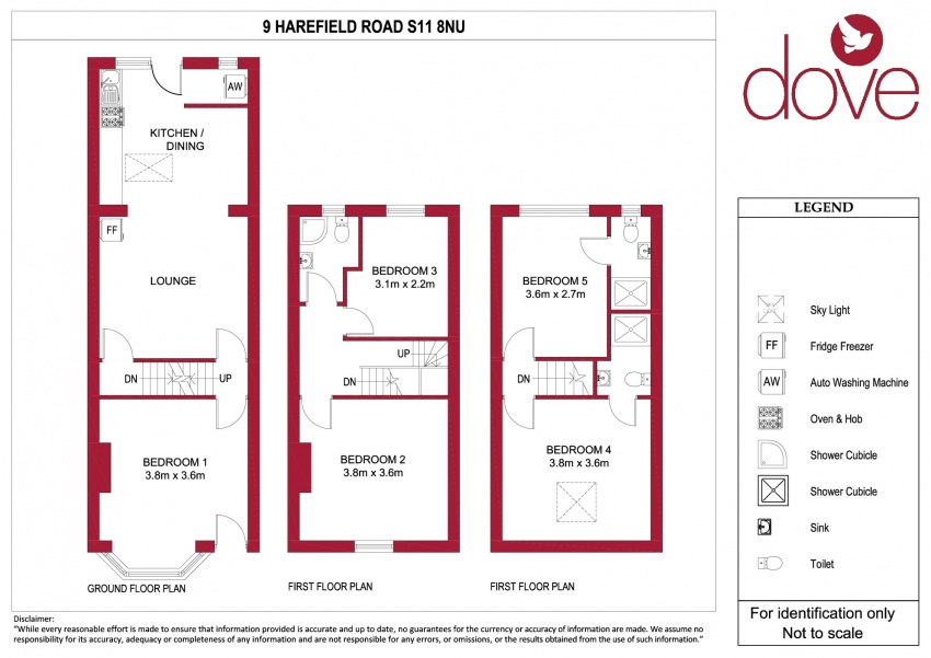 Floor plan for 9 Harefield Road, Ecclesall Road