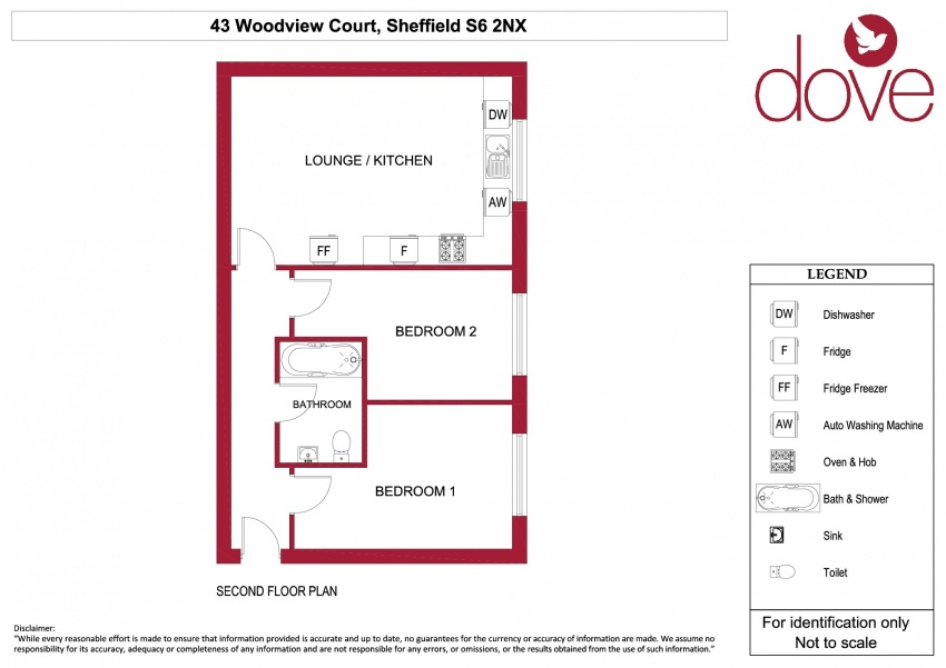 Floor plan for 43 Woodview Court, Walkley Lane, Crookes