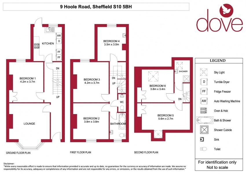 Floor plan for 9 Hoole Road, Broomhill