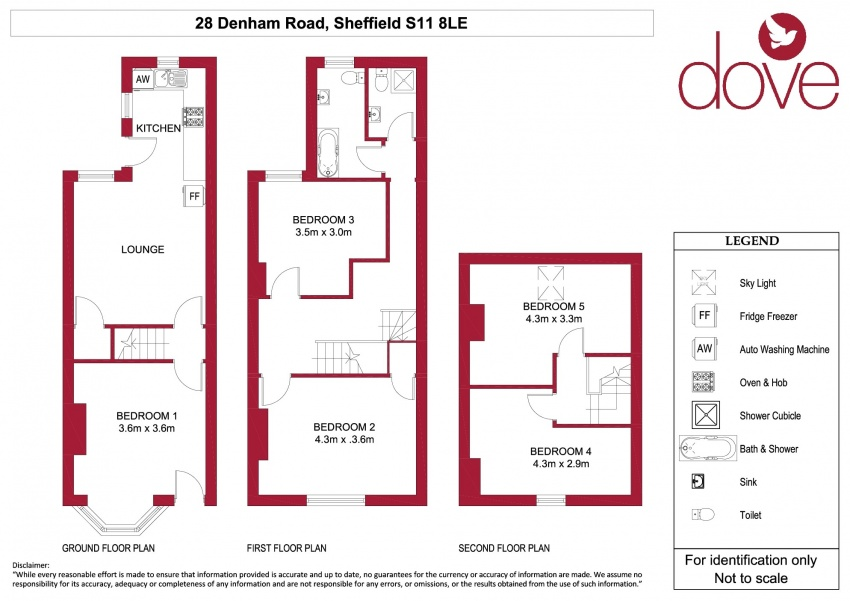 Floor plan for 28 Denham Road, Ecclesall Road