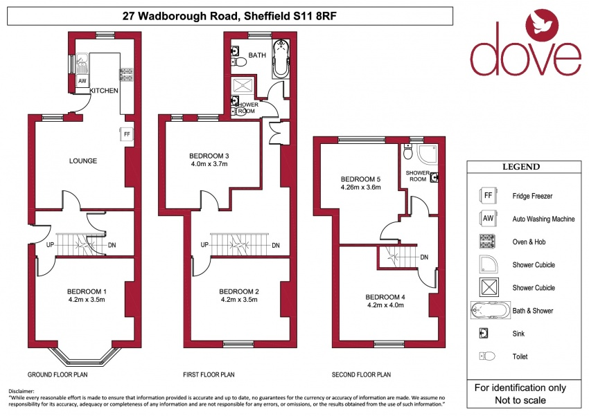 Floor plan for 27 Wadbrough Road, Ecclesall Road