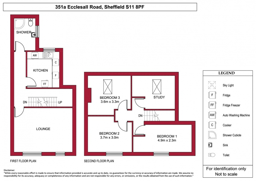 Floor plan for 351a Ecclesall Road, Ecclesall Road