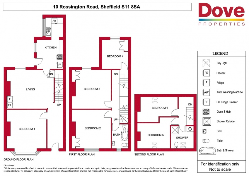 Floor plan for 10 Rossington Road, Hunters Bar