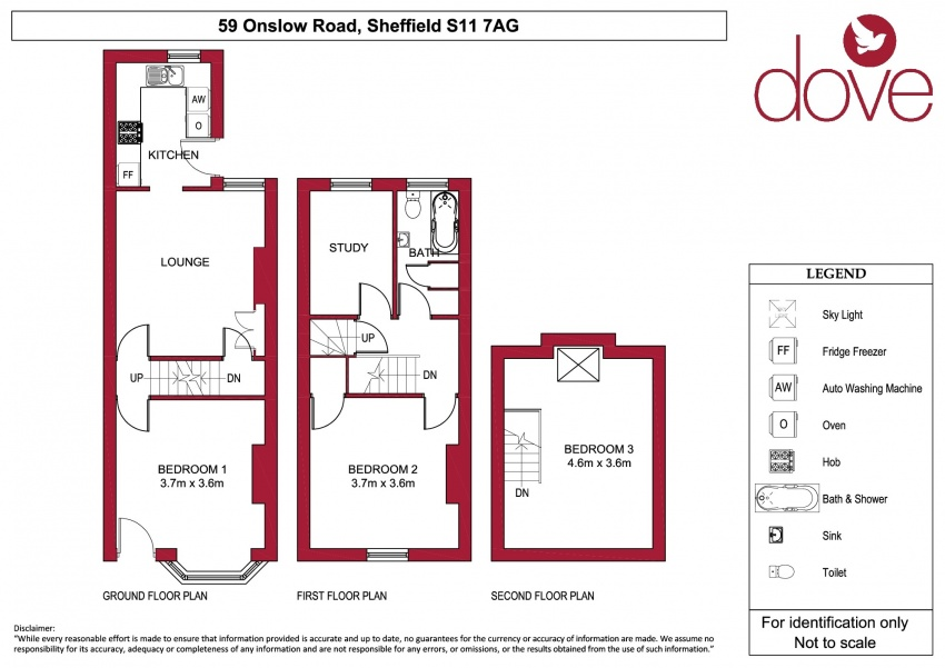 Floor plan for 59 Onslow Road, Hunters Bar