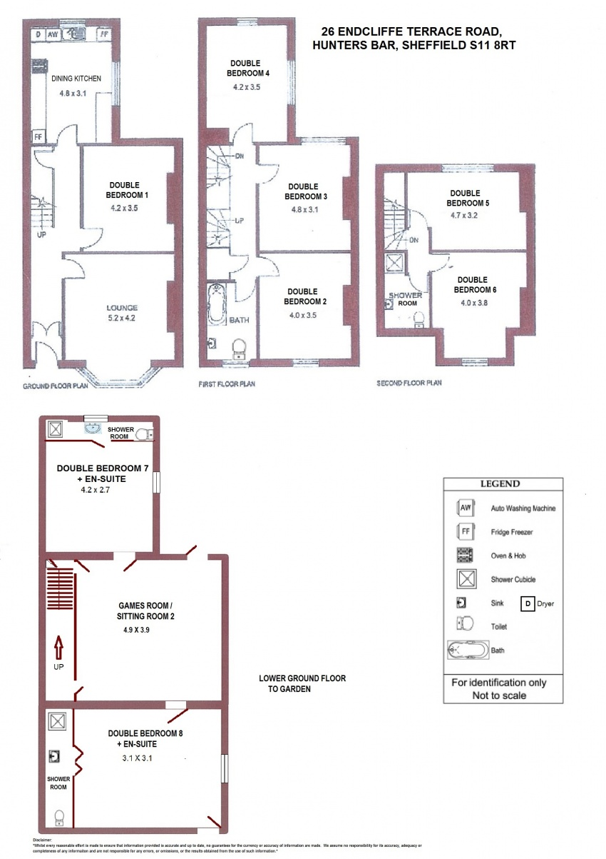 Floor plan for 26 Endcliffe Terrace Road, Hunters Bar