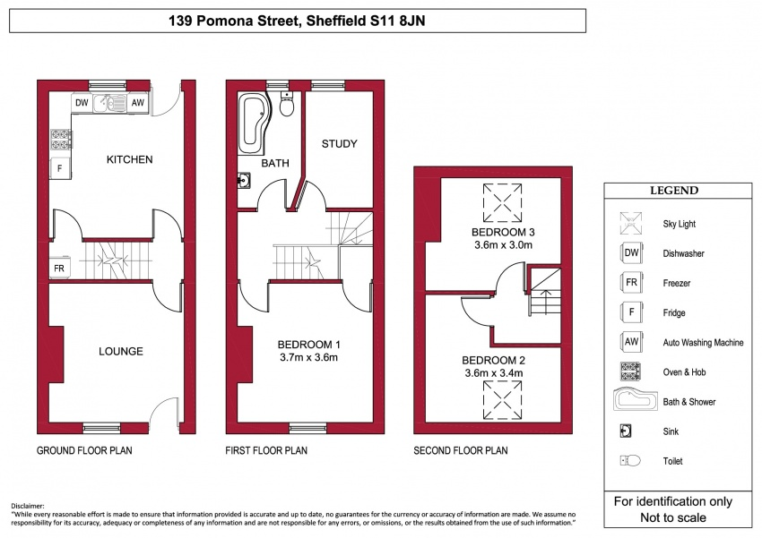 Floor plan for 139 Pomona Street, Ecclesall Road