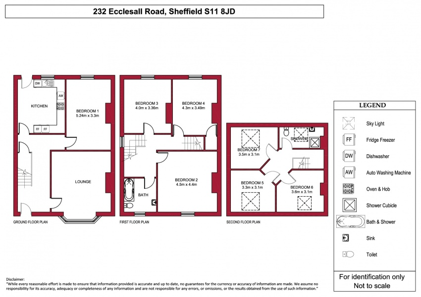 Floor plan for 232 Ecclesall Road, Ecclesall Road