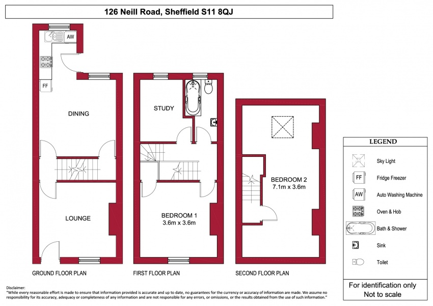 Floor plan for 126 Neill Road, Ecclesall Road