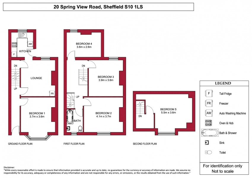 Floor plan for 20 Spring View Road, Crookes