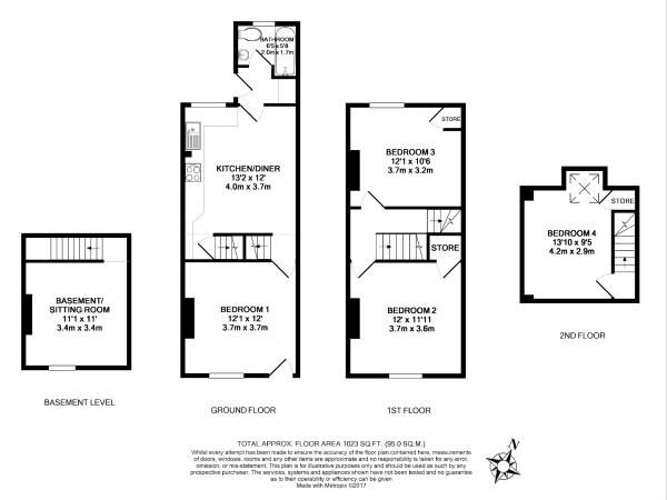Floor plan for 10 Stalker Lees Road, Ecclesall Road