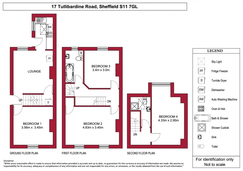 Floor plan for 17 Tullibardine Road, Hunters Bar