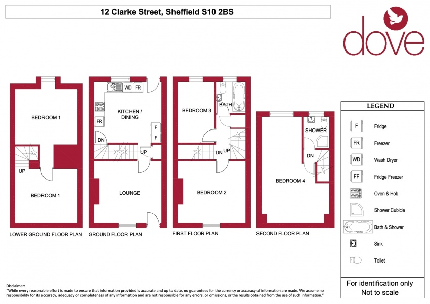 Floor plan for 12 Clarke Street, Broomhall