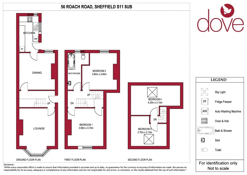 Floor plan for 56 Roach Road, Hunters Bar