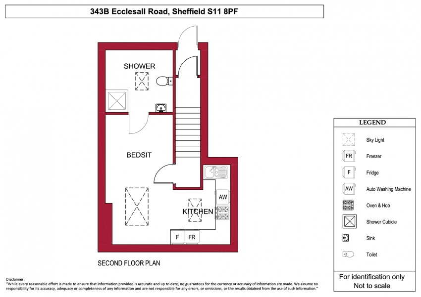 Floor plan for 343b Ecclesall Road, Ecclesall Road