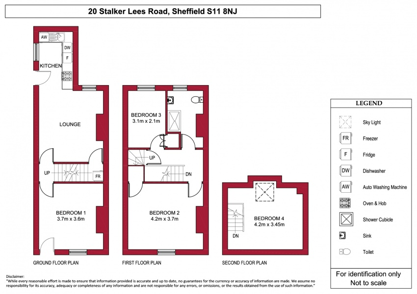 Floor plan for 20 Stalker Lees Road, Ecclesall Road
