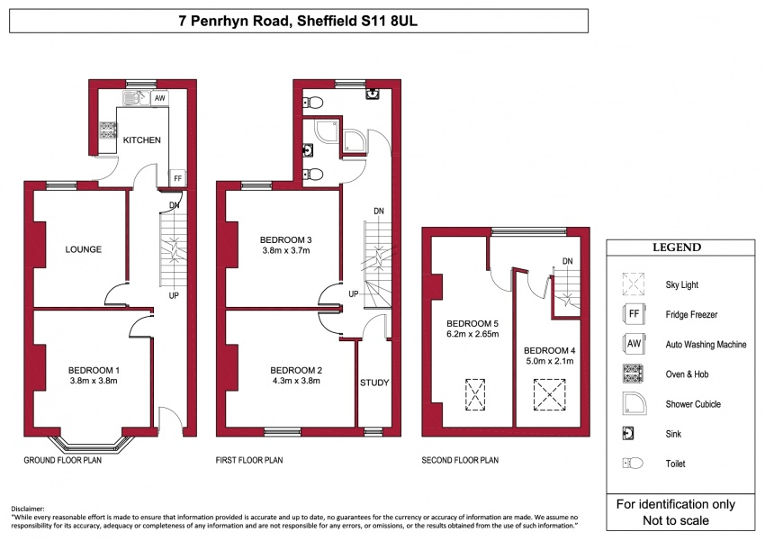 Floor plan for 7 Penrhyn Road, Hunters Bar