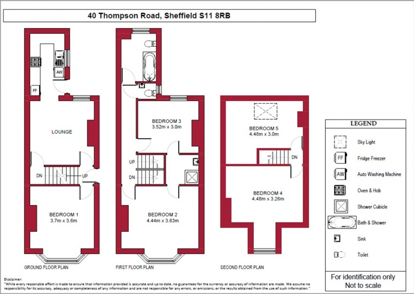Floor plan for 40 Thompson Road, Ecclesall Road