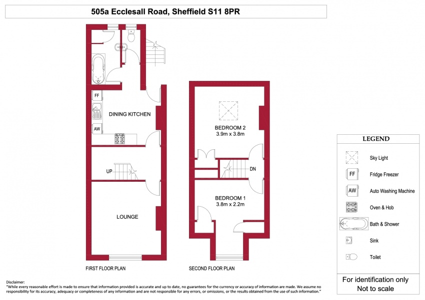 Floor plan for 505a Ecclesall Road, Ecclesall Road