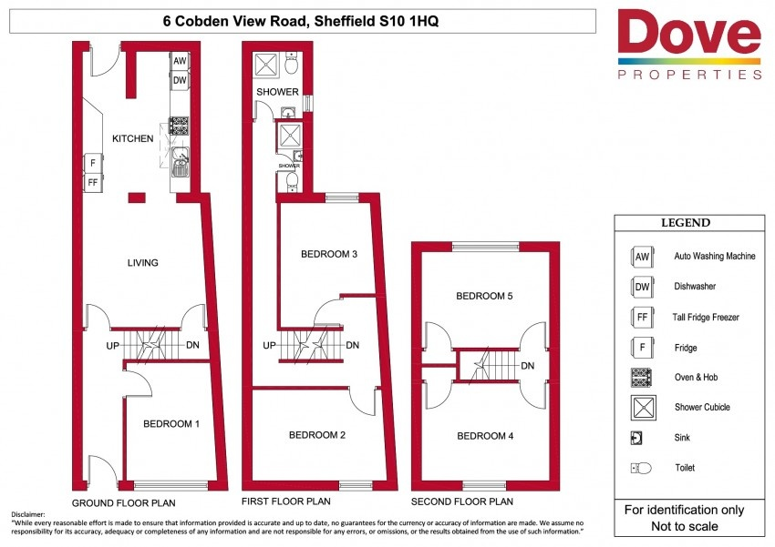 Floor plan for 6 Cobden View, Crookes