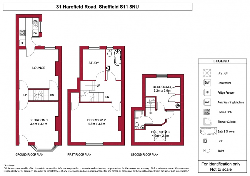 Floor plan for 31 Harefield Road, Ecclesall Road