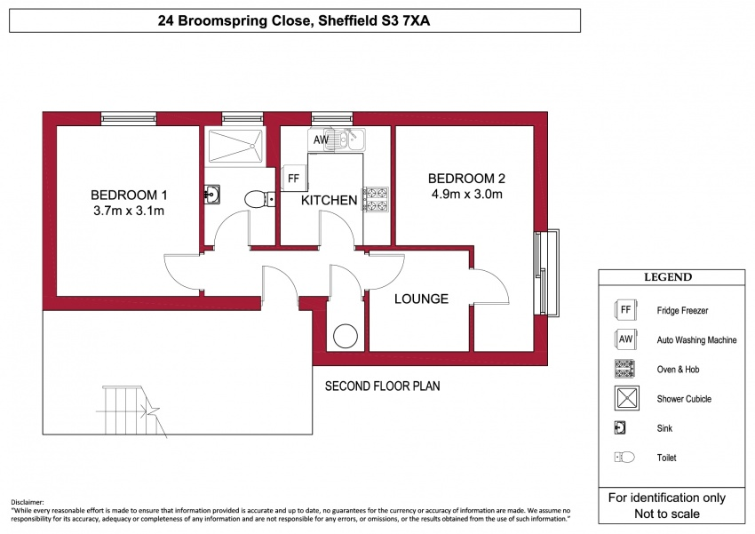 Floor plan for 24 Broomspring Close, City Centre