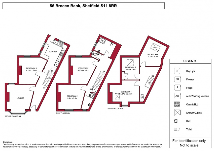 Floor plan for 56 Brocco Bank, Hunters Bar