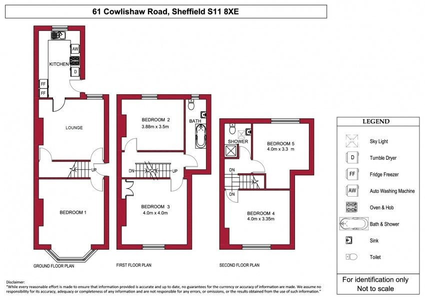 Floor plan for 61 Cowlishaw Road, Ecclesall Road